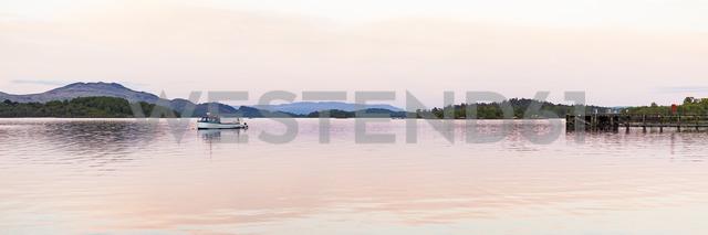 United Kingdom, Scotland, Luss, Loch Lomond and The Trossachs National Park, Loch Lomond, fishing boat - WDF04444
