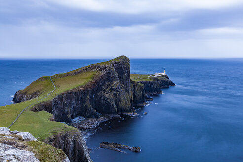 United Kingdom, Scotland, nner Hebrides, Isle of Skye, Neist Point, lighthouse in the evening - WDF04459
