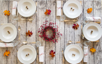 Autumnal laid table - LVF06737