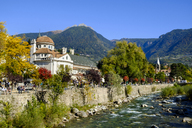Italy, South Tyrol, Meran, Kurhaus and Passer river - LBF01798