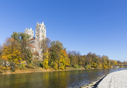 Germany, Bavaria, Munich, Isar river and St. Maximilian - FOF09861