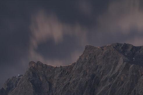 Austria, Tyrol, Zugspitze, midsummer fire - FOF09927