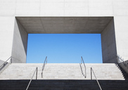 Concrete steps leading to blue sky - CAIF00288