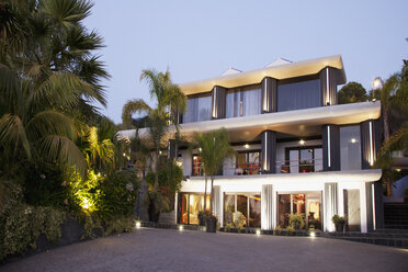 Luxury house illuminated at night - CAIF00393