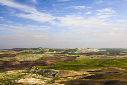 Aerial view of rolling landscape - CAIF00426