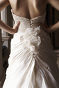 Close up of bride's gown - CAIF00742