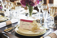 Table set for wedding reception - CAIF00754