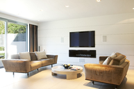 Sofas and television in modern living room - CAIF00985