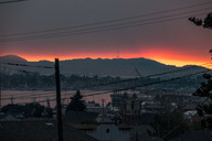 USA, California, view on Oakland bay at sunset - SUF00521