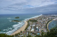 New Zealand, North Island, Tauranga as seen from Mount Maunganui - MRF01823