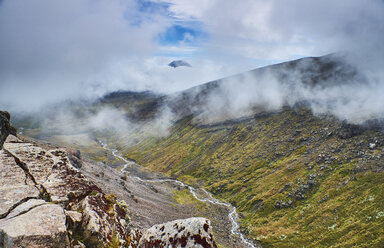 New Zealand, North Island, Tongariro National Park, volcanic landscape - MRF01826