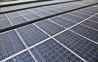 Close up of solar panels - CAIF01275