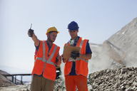 Workers talking in quarry - CAIF01395