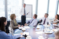Businessman talking in meeting - CAIF01590