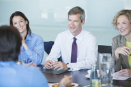 Business people talking in meeting - CAIF01593
