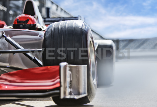 Race car sitting on track - CAIF01803