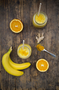Orange banana smoothie with ginger and curcuma - LVF06747