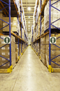 Pallets of boxes in warehouse - CAIF02787