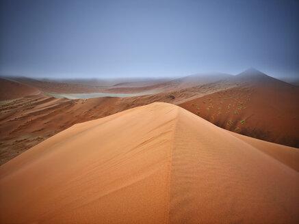 Africa, Namibia, Namib-Naukluft National Park, Namib desert, desert dunes and fog - CVF00207