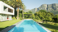 Modern house and swimming pool - CAIF03081