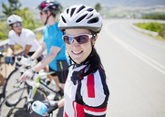 Cyclist smiling before race - CAIF04052