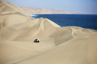 Africa, Namibia, Namib-Naukluft National Park, Namib desert, Atlantic and desert dunes, off-road vehicle - CVF00216