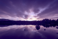 United Kingdom, Scotland, Highlands, Cairngorms National Park, Loch Morlich at sunset - SMAF00955