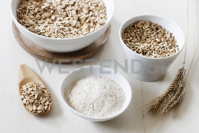 Rye ears, rye flakes, rye flour and rye grains - EVGF03287
