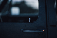 Canada, British Columbia, car door, skull - GUSF00394
