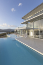 Tranquil modern luxury home showcase exterior infinity pool - HOXF02168