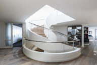 Modern spiral staircase in home showcase interior - HOXF02375