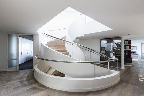 Modern spiral staircase in home showcase interior - HOXF02375