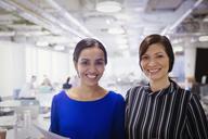 Portrait smiling, confident businesswomen - CAIF05677