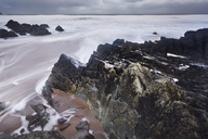 Long exposure ocean and rocks, Devon, United Kingdom - CAIF05914