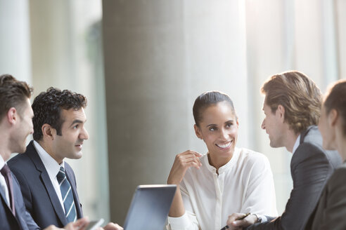 Business people talking in meeting - CAIF06214