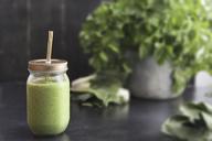 Glass of vegetable smoothie - SKCF00346