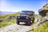 Italy, Piemont, West Alps, Landrover on Strada dei Cannoni - MMAF00321