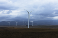 Wind farm in valley, Andaluc'a, Spain - CAIF07642