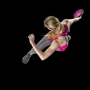 Discus thrower against black background, top view - STSF01483