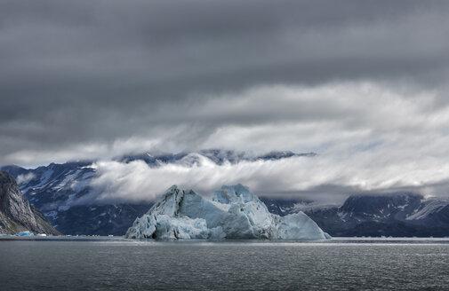 Greenland, Sermersooq, Kulusuk, Schweizerland Alps, iceberg in water - ALRF00988