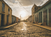 Cuba, Trinidad, people standing in the street - GUSF00541