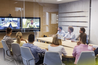 Business people in video conference meeting - CAIF09718