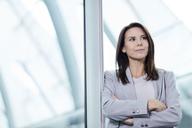Portrait confident businesswoman looking away - CAIF10668