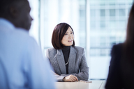 Businesswoman listening in meeting - CAIF10683