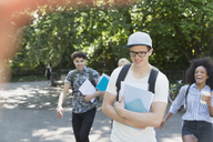 College students walking in park - CAIF11451