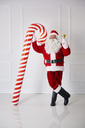 Santa Claus with handbell and candy cane - ABIF00125