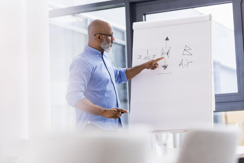 Businessman in conference room leading a presentation - FMKF04924