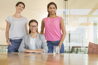 Portrait confident businesswomen in conference room - CAIF13403