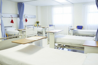 Beds ready in empty hospital room - CAIF13556