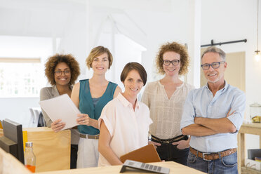 Portrait of smiling office workers - CAIF13817